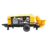 Bomba concreta portátil elétrica elevada do motor 80 M3/H de Simens da eficiência da condição nova da manufatura da polia (HBT80.16.116S)