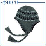 習慣POM POMのアクリルの自由なニットのEarflapの帽子の帽子
