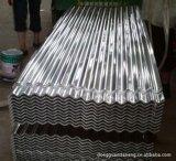 El material para techos galvanizado del hierro del metal/acanaló la hoja de acero