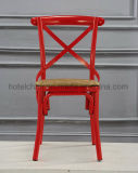 أحمر إطار حديد [إكس] صليب خلفيّ يتعشّى كرسي تثبيت