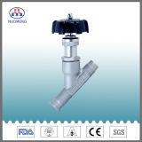 Válvula de assento de ângulo soldada / fixada em aço inoxidável sanitário