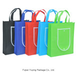 多彩な戦闘状況表示板の非編まれたショッピング・バッグ