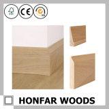 Moulage de bordage simple en bois solide de chêne de type de 15 x de 110mm