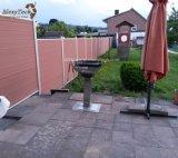 Incombustibles al aire libre modernos reciclan la cerca de aluminio de la aislamiento WPC para la venta