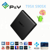 T95X X96 de vierling-Kern van het Kristal van de Doos van TV Android6.0 van Amlogic S905X 4k de reeks-Bovenkant van het Netwerk Doos