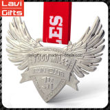 リボンが付いている卸し売りカスタム翼の形の金属メダル