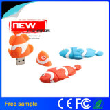Color de peces en forma de memoria flash USB Stick de memoria animal
