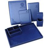 De uitstekende kwaliteit Aangepaste Blauwe Reeks van de Hemel van het Product van het Leer van de Omslag van de Rekening