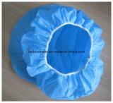Tocas de LY/casquillo del clip/redecilla no tejida disponible/casquillo quirúrgico azul/color del verde/blanco