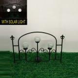 Doppio mestiere illuminato solare della rete fissa del giardino del metallo della sfera di vetro