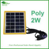 Сделано в панели солнечных батарей Китая 2W 6V поли для освещения