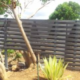 2017 panneaux en aluminium imperméables à l'eau de frontière de sécurité du gris WPC de modèle neuf pour le jardin