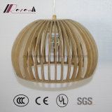Lámpara pendiente de madera retra moderna para el comedor