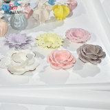 추가 색깔 연꽃 모양 Tealight 촛대 세라믹 촛대