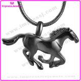 Correr colgante, collar de caballo cremación de cenizas del recuerdo (IJD8669)