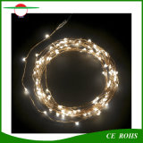 Lumière solaire de chaîne de caractères de câblage cuivre de l'horizontal 100LED de Decotation d'arbres de Noël avec éclairage LED coloré blanc blanc/chaud pour facultatif