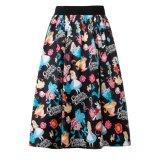Девушки шкафута женщин нестандартной конструкции эластичные отбрасывают флористическую юбку