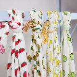 Baby-Musselin-Zudecke hergestellt von 4 Falten Baumwollmusselin-Gewebe-