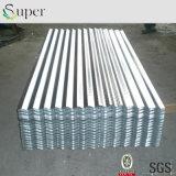 Material de hoja acanalado del material para techos del metal del cinc de aluminio