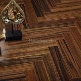 Brown Color Ebony Herringbone Parquet Wood Flooring / Engineered Wood Flooring