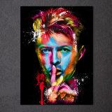 HD imprimió la pintura de David Bowie del cantante de roca en la lona Mc-044 del cuadro del cartel de la impresión de la decoración del sitio de la lona