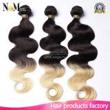 Волосы бразильянина Ombre дешевого Weave Китая поставщика Гуанчжоу он-лайн продавая мягкие покрашенные