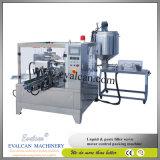 Aceite de cocina automático de Malasia, empaquetadora rotatoria del petróleo vegetal