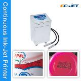 Imprimante à jet d'encre continue de Duel-Tête de machine d'impression de datte pour l'oeuf (EC-JET910)