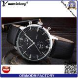 Hombres de lujo mecánicos del reloj del acero inoxidable de la manera del asunto del reloj de los hombres del cuero genuino de la buena calidad del reloj de los hombres de la promoción Yxl-059