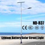 Luz de rua do diodo emissor de luz da potência solar