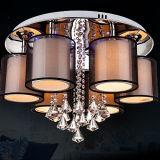 Abajo de la lámpara luces cristalinas abajo para la sala de estar