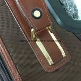 高品質PUの革旅行荷物の箱、2つの回転の車輪が付いているカスタマイズされたトロリー袋