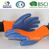 Interpréteur de commandes interactif de polyester avec les gants de travail enduits par nitriles (SL-N104)