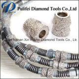 Caucho Muelle de inyección de plástico diamante de corte sierra de alambre cuerda de piedra de corte Concret