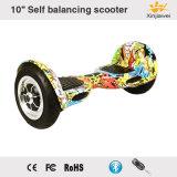 """Углеродного волокна Big надувные колеса 10 """"Self Balancing электрический самокат"""