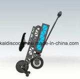 Aluminiumrahmen 2-Wheel, der elektrischen Roller mit LED-Licht faltet