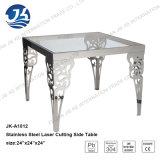 Журнальный стол просто и способа конструкции нержавеющей стали с стеклянной верхней частью