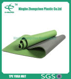 estera de goma de la yoga del resbalón de 6m m de la naturaleza dual anti respetuosa del medio ambiente cómoda del color