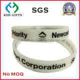 Wristband stampato marchio su ordinazione, braccialetto amichevole di modo del silicone di Eco