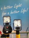 Luces al aire libre del trabajo del reflector recargable del LED con la base fuerte del imán