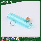 5ml 10ml 20ml Transparante Lichtblauwe Cork van het Glas van de Kleur Cork van het Glas van het Flessenspoelen van de Gift van het Glas van de Fles Lege Fles