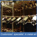 館またはスーパーマーケットのためのカスタマイズされたステンレス鋼の銀のワインRacky
