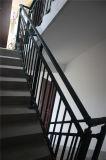 Haohan modificó la barandilla de acero galvanizada decorativa residencial elegante 3 de la escalera para requisitos particulares