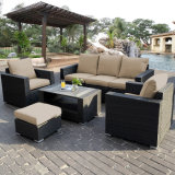 Fashion Leisure Garden Furniture Wicker Sitting Room Rattan Sofa Set