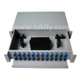 Accesos FTTH/FTTX ODF montado estante óptico de FC/Sc/LC/St 48