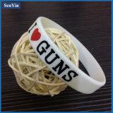 Bunter Zoll geprägte Silikonarmbänder u. Wristbands