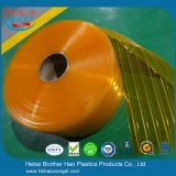 Gordijn van pvc van de Dikte van anti-Insect Gele Dubbele Geribbelde 5mm van de vervanging het Flexibele