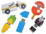 저녁밥 주문 연약한 PVC 3D 실리콘 USB 섬광 드라이브
