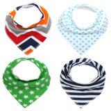 Regalo promocional al por mayor de Eco-Friendly personalizada barato desgaste del bebé del algodón del pañuelo baberos para bebés