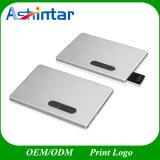 USB3.0 que desliza a movimentação de alumínio do flash do USB do cartão de crédito